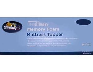 Silentnight Breatheasy Single Memory Foam Mattress Topper