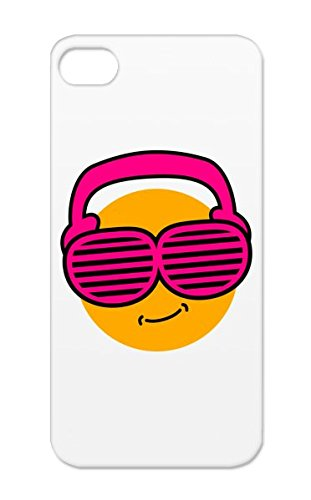 Smileys Pink Headphones C3 Beat Dance Electronica Music Dubstep Smily Summer Hip Hop Music Cool Nerd Rap Protective Case For Iphone 5/5S