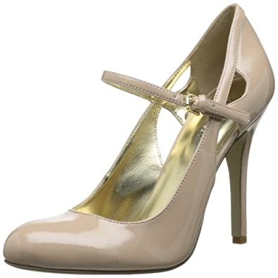 Nine West Women's Moodyblue Mary Jane Pump,Natural Synthetic,5.5 M US