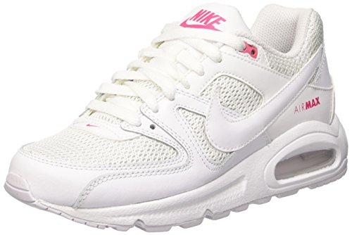 Nike Air Max Command (Gs) Scarpe da Ginnastica, Bianco (White/White/Dynamic Pink), 37 1/2