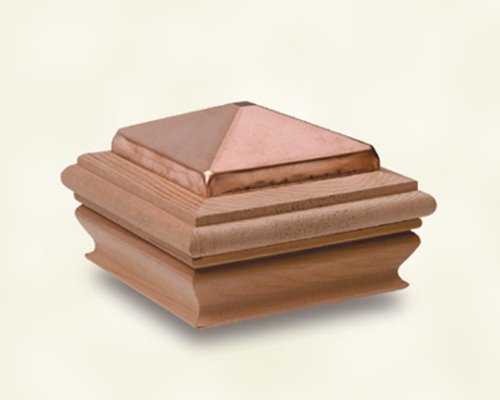 Woodway Products 870.2035 4-by-4-Inch Small Treated Copper Pyramid Post Cap