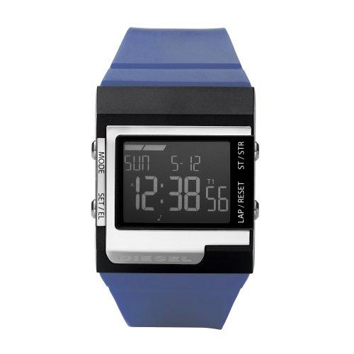 Diesel DZ7211 - Reloj digital de cuarzo unisex con correa de caucho, color azul