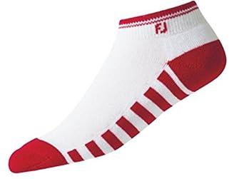 Buy Foot Joy Ladies ProDry Golf Sock, Short, Red White by FootJoy