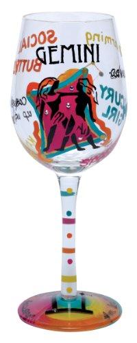 Lolita Love My Sign, Gemini Wine Glass