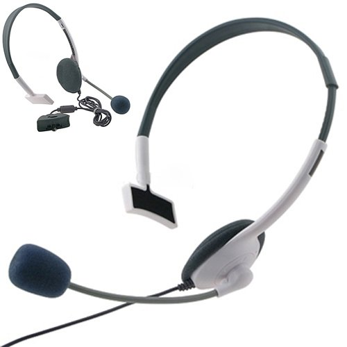 Hde� Lightweight Headset W/ Microphone For Xbox 360 Live Video Games User Chat