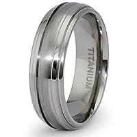 7mm Domed Titanium Ring (Sizes 6-12)