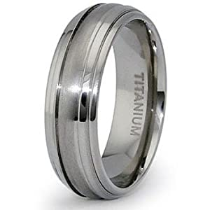 7mm Domed Titanium Ring - Size 6.5