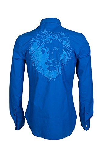 Versace -  Camicia Casual  - Maniche lunghe  - Uomo Blue 52