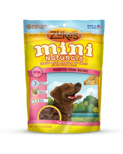 Zukes's Mini Naturals Healthy Moist Training Treats, Roasted Pork Recipe, 1-Pound