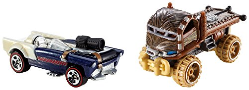 Hot Wheels Star Wars Character Car 2-Pack, Han Solo and Chewbacca - 1