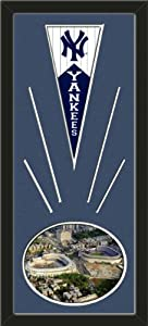 New York Yankees Wool Felt Mini Pennant & Yankee Stadium 2008 New & Old... by Art and More, Davenport, IA