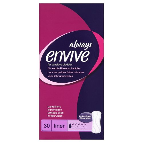 Always Envive Incontinence Panty Liners for Sensitive Bladders x 30