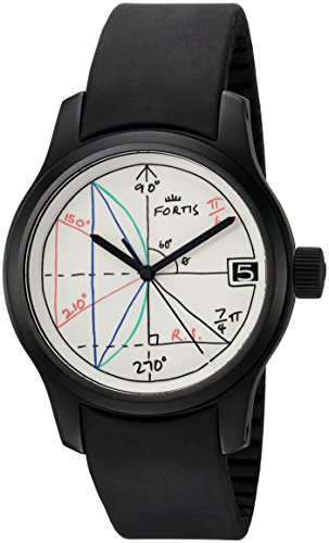 Fortis-Mens-6551892-K-2pi-designed-by-Rolf-Sachs-Analog-Display-Automatic-Self-Wind-Black-Watch