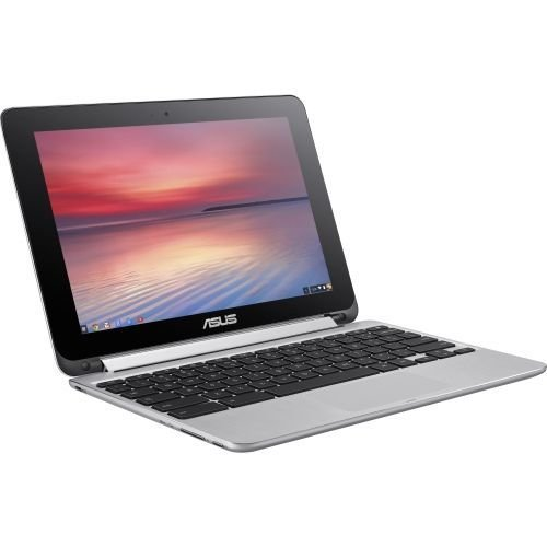C100PA-DB02 ASUS Chromebook Flip 10.1-Inch Convertible 2 in 1 Touchscreen (Rockchip, 4 GB, 16GB SSD, Silver)#10;Laptop Notebook Tablet PC