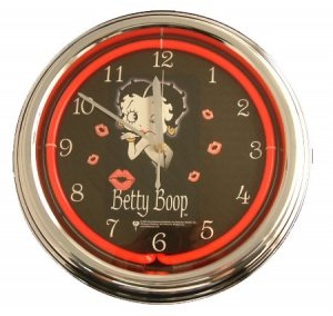 Garden deals offers best sellers kitchen home appliances for Betty boop neon wall clock