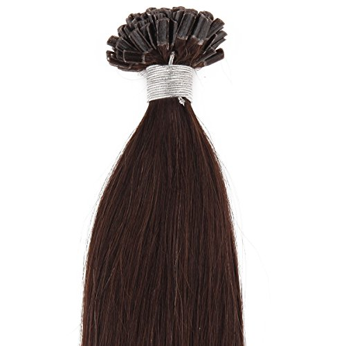 "Beauty7 50G 0.5G/S Pre Bonded Nail U Tip Real Remy Human Hair Extensions 18"" 20"" 22"" 24"" #2 Dark Brown (18"" 0.5G/S) front-911071"