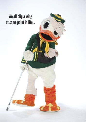 Oregon Ducks - Get Well Soon Duck Greeting Card