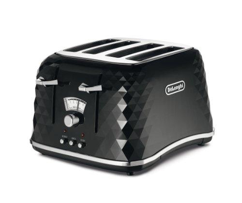 De'Longhi CTJ4003 Brillante Faceted 4-Slice Toaster from Delonghi