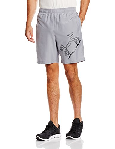 Under Armour da uomo Fitness Pantaloni e pantaloncini UA 8Woven Graphic Uomo - Grigio (acciaio) - XL