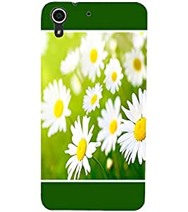 PrintDhaba Flowers D-1434 Back Case Cover for HTC DESIRE 728 (Multi-Coloured)