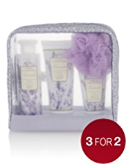 Floral Collection Lavender Toiletry Gift Bag