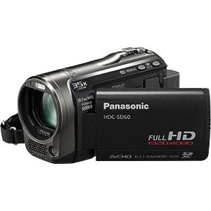 Panasonic HDC-SD60K SD Based Hi-Def Camcorder with 35X Intelligent Zoom (Black)