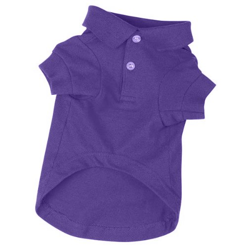 Zack & Zoey Cotton Polo Dog Shirt, Small, 12-Inch, Ultra Violet
