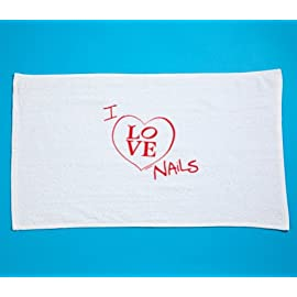 I Love Nails Table Towel