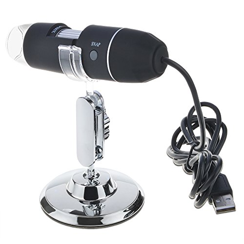 ABLEGRID 50-500X 2MP USB 8 LED Light Digital Microscope Endoscope Camera Magnifier