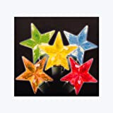 Sienna LED Multicolored Faceted Star Christmas Lights with Green Wire, Set of 30