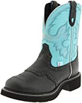 Hot Sale Justin Boots Women's Gypsy Boot,Black Deer Cow,7 B US