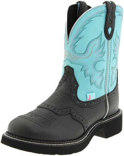 Justin Boots Women's Gypsy-L9905 Boot,Black/Aqua,8.5 B US