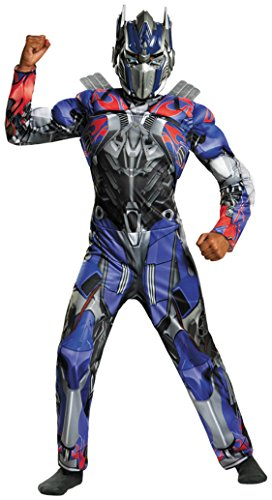 Boys Optimus Prime Cl Muscle Kids Child Fancy Dress Party Halloween Costume