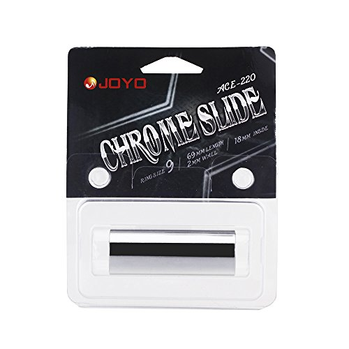 joyo-ace-220-guitar-slide-bass-cylinder-tone-bar-chrome-plated-stainless-steel-metallic