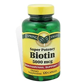 Spring Valley - Biotin 5000 mcg, Super Potency, 120 Capsules