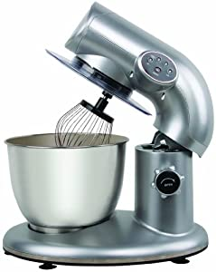 American Era 650W Stand Mixer with 6-QT Stainless Steel Bowl (Silver)