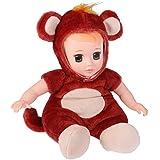 Segolike Wine Red Cute Stuffed Soft Vinyl Monkey Doll For Baby Sleeping Toy Toddler Birthday Gift Playset