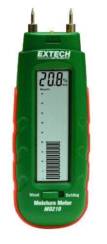 Extech MO210 Pocket Size Moisture Meter with 2-in-1 Digital LCD Readout and Analog Bargraph
