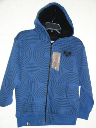 Ground Level Boys Fleece Hoody, Size Large, Blue/Black