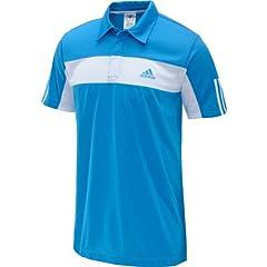 Buy Adidas Mens Tennis Galaxy Polo (Solar Blue White) by adidas
