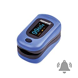 Newnik PX701 Fingertip Pulse Oximeter with Audio-Visual Alarm, 4 Type OLED Display, CE, FDA Approved, SPO2, Perfusion Index, Pulse Rate, Color Royal Blue (ROYAL BLUE)