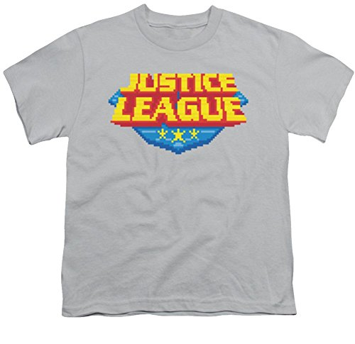 Justice League 8 Bit Logo Youth T-Shirt