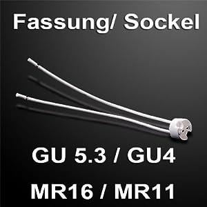 Version pour basse tension lampes MR16 GU5.3 douille GU4