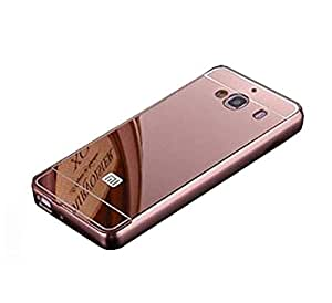 Novo Style Metal Bmper Frame Case with Acrylic Mirror Back Cover For XiaomiRedmi 2 Prime - Pink