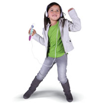 Rock out to kid-approved music or listen to an engaging audio book.