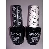 OPI Gelcolor Soak off Gel Base & Top Coat 0.5 oz / 15 ml each