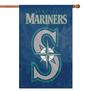 MLB Seattle Mariners Applique Banner Flag by Party Animal