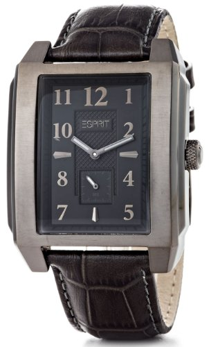 Esprit A.ES102821003 - Reloj analógico de cuarzo para hombre con correa de piel, color negro
