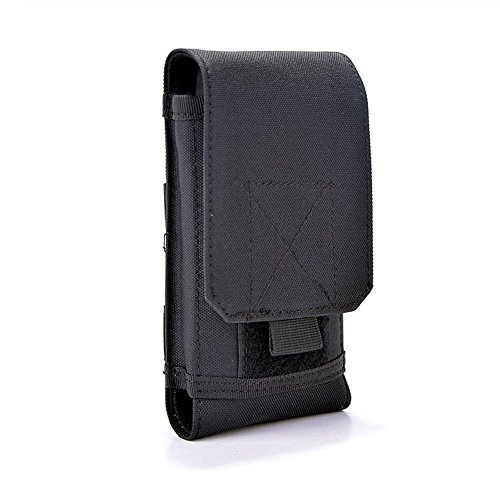 ALTTIMERY Molle Tatical Nylon Mobile Phone Pouch Holster Case Waist Pack Bag for iPone 6S Plus, Samsung Galaxy S7 (Black) (Mobile Phones Direct compare prices)