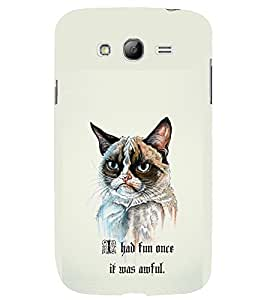 TOUCHNER (TN) Angry Cat Back Case Cover for Samsung Galaxy Grand